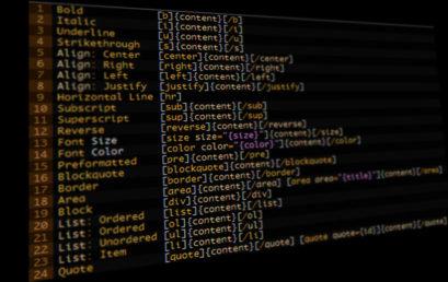 Lista de BBcodes para Foro y Web