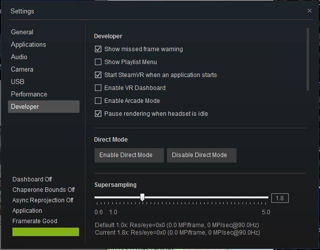 SteamVR supersampling ajustes gráficos para rFactor 2 con Oculus Rift