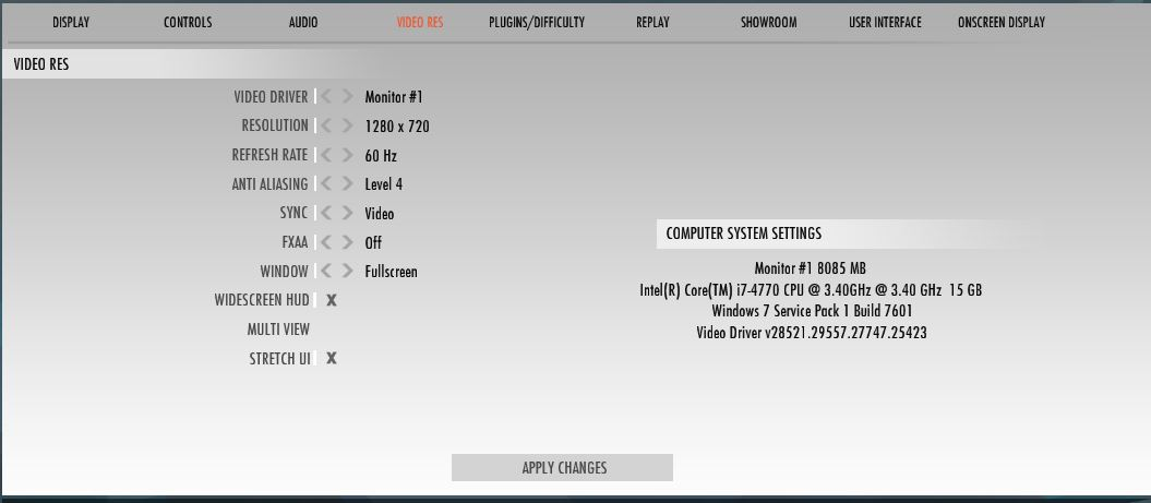Video Res ajustes gráficos para rFactor 2 con Oculus Rift
