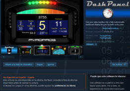 DashPanel con soporte VR
